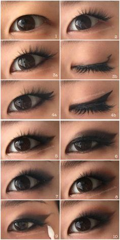 Monolid Make Up: Tutorial: Smoked Out Winged Eyeshadow