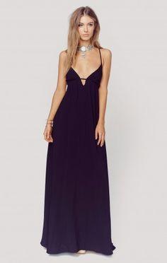 For love and lemons black camilla maxi dress