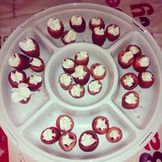 Jell-O Shooters: Strawberries & Whipped Cream