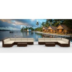 Shop for Urban Furnishing - BROWN SERIES 14a Modern Outdoor Backyard Wicker Rattan Patio Furniture Sofa Sectional Couch Set. Get free delivery at Overstock.com - Your Online Garden