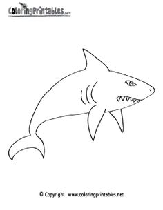 Shark Cartoon Coloring Page