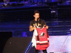 Adam Levine of Maroon 5 in Toronto