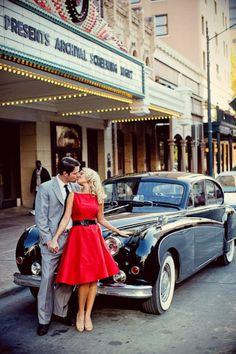 1950s Glamour Engagement Session | Liv by Design Bride | Kendall Beard | Mad Men Engagement shoot | Christina Carroll Photography