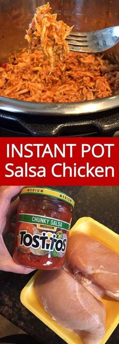 This is the best Instant Pot salsa chicken recipe ever! I've tried many sals… This is the best Instant Pot salsa chicken recipe ever! I've tried many salsa chicken recipes, and this one is the most flavorful! Instant Pot Pressure Cooker, Pressure Cooker Recipes, Pressure Cooking, Slow Cooker, Salsa Chicken, Balsamic Chicken, Chicken Jalapeno, Chicken With Salsa Recipe, Recipe Using Salsa