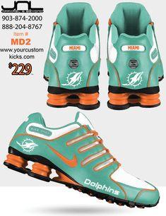 MIAMI DOLPHINS NIKE SHOX $229+TAX Item #MD2 VISIT: www.yourcustomkicks.com