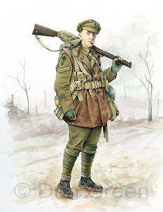 Corporal Royal Dublin Fusiliers 1918 by Dan Green