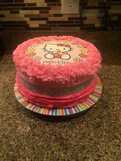 Hello kitty cake #ruffles #edibleimage