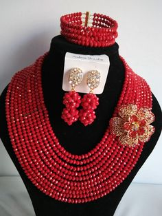 Find More Jewelry Sets Information about 2016 Fashion red African beads jewelry set Crystal beads bride jewelry nigerian wedding african beads jewelry Aaa414,High Quality jewelry tube,China jewelry refractometer Suppliers, Cheap jewelry punk from Chinese jewelry import and export co., LTD on Aliexpress.com