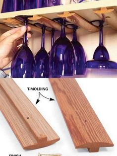 Too bad I'm in a rental house. I'd totally do this under kitchen cabinets. Easy and cheap!