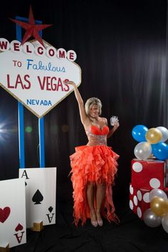 Minas the woman forgetting her shirt, Have a Las Vegas themed house party if you don't want to go out.