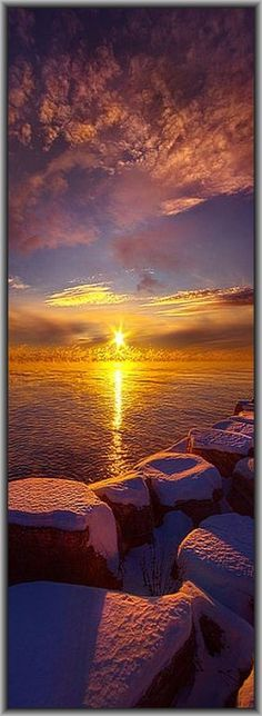 AMAZING SUNSET at WINTER #by Phil~Koch on Flickr