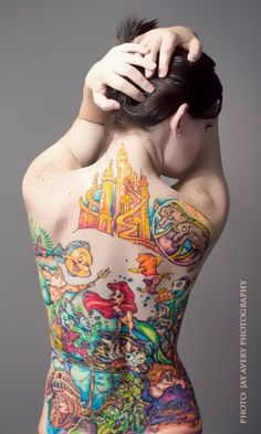 We have 138 Amazing Disney Tattoos Photos from people who love Disney films and grew up watching them. If you want a Disney tattoo, check this out. Little Mermaid Tattoos, Mermaid Tattoo Designs, The Little Mermaid, Tattoo Mermaid, Mermaid Sleeve Tattoos, Disney Tattoo Design, Movie Quote Tattoos, Funny Tattoos, Arielle Tattoo