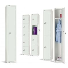 Buy Elite White Lockers Six Door from our Classroom Storage range - @ Panel Warehouse are leading suppliers of high quality display boards, office screens and display panels available at great prices online. School Furniture, Door Furniture, Furniture Storage, Office Screens, Door Locker, Vertical Storage, White Paneling, Storage Compartments