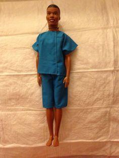 Bright blue shirt & board short set for Male by KelleysKreationsLV