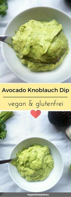 Die Grillsaison kann kommen! Mit diesem Dip seid ihr perfekt gerüstet. #avocado #knoblauch #dip #vegan #glutenfrei #rezept #veganfood #grillen