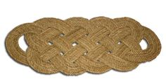 Alaskan Made Re-purposed Rope Throw Rug 28 x 12 Door Mat Natural Colored Nautical Beach Decor. $74.99, via Etsy.