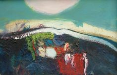 Under the Hill (at Rhynie) by Lil Neilson on display at Gallery Heinzel, Aberdeen