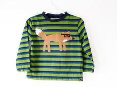 Green Geeky Fox Boys Shirt Size 24m Eco Friendly Trendy Kids by TrashN2Tees. $28.00, via Etsy.