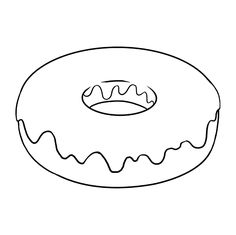How to Draw a Donut - Really Easy Drawing Tutorial, Doodle Drawings, Easy Drawings, Drawing Sketches, Easy Drawing Tutorial, Cute Donuts, Donuts Donuts, Donut Drawing, Donut Tattoo, Banners