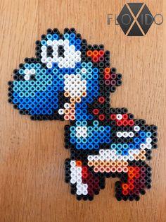 Blue Yoshi - Hama beads by floxido on DeviantArt