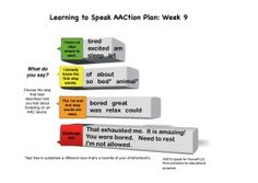 Learning to Speak AACtion Plan: Week 9 - Speak For Yourself AAC