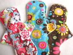 Set of 3 MInky Menstrual Sanitary Cloth Pads! Washable and Reusable! by JuliansBoutique on Etsy