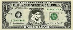 FRED FLINTSTONE on REAL Dollar Bill Cash Money Memorabilia Collectible Celebrity