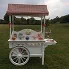 Amy's Allsorts Candy Cart  Picnic in the park? This vintage style wooden cart looks amazing outside with its white finish and hand painted details.