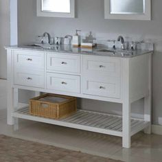 Shop the Brooks Double Bathroom Vanity Set at Perigold, home to the design world's best furnishings for every style and space. Plus, enjoy free delivery on most items. Vanity Set, 60 Inch Vanity, White Vanity, Best Bathroom Vanities, Single Sink Bathroom Vanity, Sinks, Master Bathroom, Bathroom Ideas, Bathroom Mirrors
