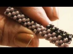 Cubic Right Angle Weave video tutorial - Work an extra row off an existing rope  ~ Seed Bead Tutorials