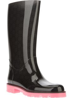 GUCCI - Black Edimburg Wellington Boot