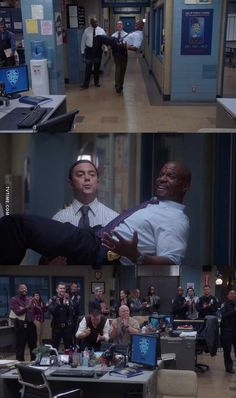 by Rahaf about Brooklyn Nine-Nine, Season 05 Episode 17 Series Movies, Movies And Tv Shows, Tv Series, Funny Memes Images, Funny Relatable Memes, Hunger Games, Best Comedy Shows, Brooklyn Nine Nine Funny, Nerd Humor