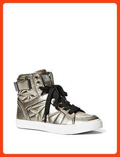 d7d8bd01271 G by GUESS Women s Omarc Pewter Sneaker 9 M Vegan Fashion