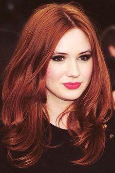 Color rojo de cabello