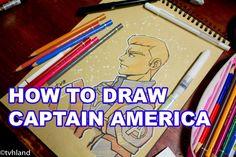 Comment dessiner Captain America Civil War? - Dessin sur papier kraft
