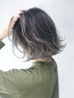 Korean Short Hair, Short Hair With Bangs, Short Hair Cuts, Gorgeous Hair Color, Hair Color Pink, Permed Hairstyles, Hairstyles With Bangs, Hair Streaks, Hair Arrange