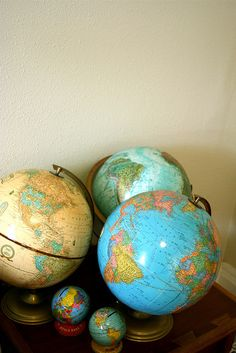 I love globes! The possibilities!