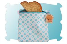Reusable Snack and Sandwich Bags In The Hoop - DigiStitches Machine Embroidery Designs