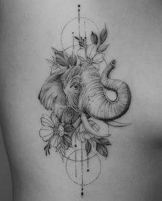 elephant tattoos ~ elephant tattoos _ elephant tattoos small _ elephant tattoos with flowers _ elephant tattoos mother daughter _ elephant tattoos meaning _ elephant tattoos for women _ elephant tattoos men _ elephant tattoos sleeve Cute Tattoos, Beautiful Tattoos, Flower Tattoos, Body Art Tattoos, Small Tattoos, Tattoos For Guys, Horse Tattoos, Ear Tattoos, Celtic Tattoos
