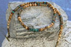 Turquoise Necklace Tribal Necklace Ethnic by PenningtonRustica