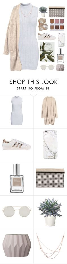 """""""Untitled #2707"""" by tacoxcat ❤ liked on Polyvore featuring Glamorous, adidas Originals, russell+hazel, CLEAN, Victoria Beckham, Bloomingville and Willow & Clo"""