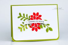 Simply Beautiful CAS Thank You card by TE Fan Latisha Yoast! 8-) #Cardmaking, #Stampofthemonth, #ThankYou
