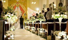 decoração de casamento igreja branca - Pesquisa Google