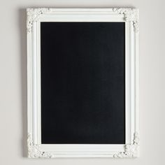 With its Victorian-inspired molding, our exclusive Georgina Ornate Chalkboard is both functional and beautiful. This attractive piece is bordered by decorative wood molding with an antique scrolling pattern and whitewashed finish that beautifully frames your reminders and messages.