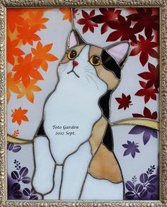 三毛猫色に染まる頃 stained glass cat