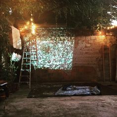 Set up at the studio. Tomorrow night Siamese Twins play inside Andres Tapia Urzua' projection cocoon. #contemporaryart #siamesetwins #projectiondesign #soundslivefeelslive #pittsburghartstudio #kimbarrystudio