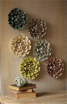 Wall Decor Flowers handmade flower wall decor | home | pinterest | handmade flowers
