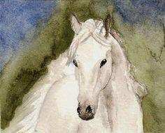 Original Miniature Painting in Watercolor  Beautiful by ImaginIt43
