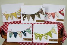 I love these cards--quick, easy, and a great use of scraps. What a great gift.