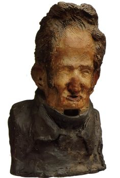 Honore Daumier, Charles-Léonard Gallois (1774-1851), Publicist and Historian, Republican, 1833, clay, Musée d'Orsay, Paris, France
